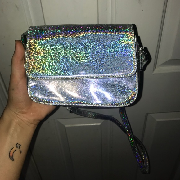 3d5b870834 Forever 21 Handbags - Holographic glitter crossbody purse small